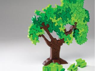 Freestanding design can be customized for a fun gift
