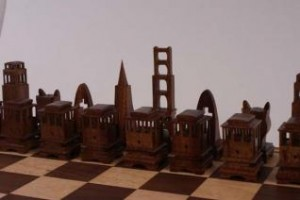 San Francisco Chess Set by Jim Kape earned the People's Choice award in the Compound category.
