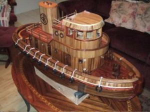 WoodChuck Model Tugboat by Charles Bowman earned the People's Choice award in the general category.