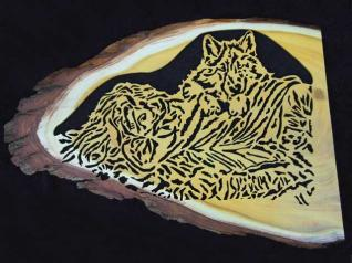 WOLF MAIDEN, designed by Kevin Daly, is cut in a beautiful slab of Osage orange.