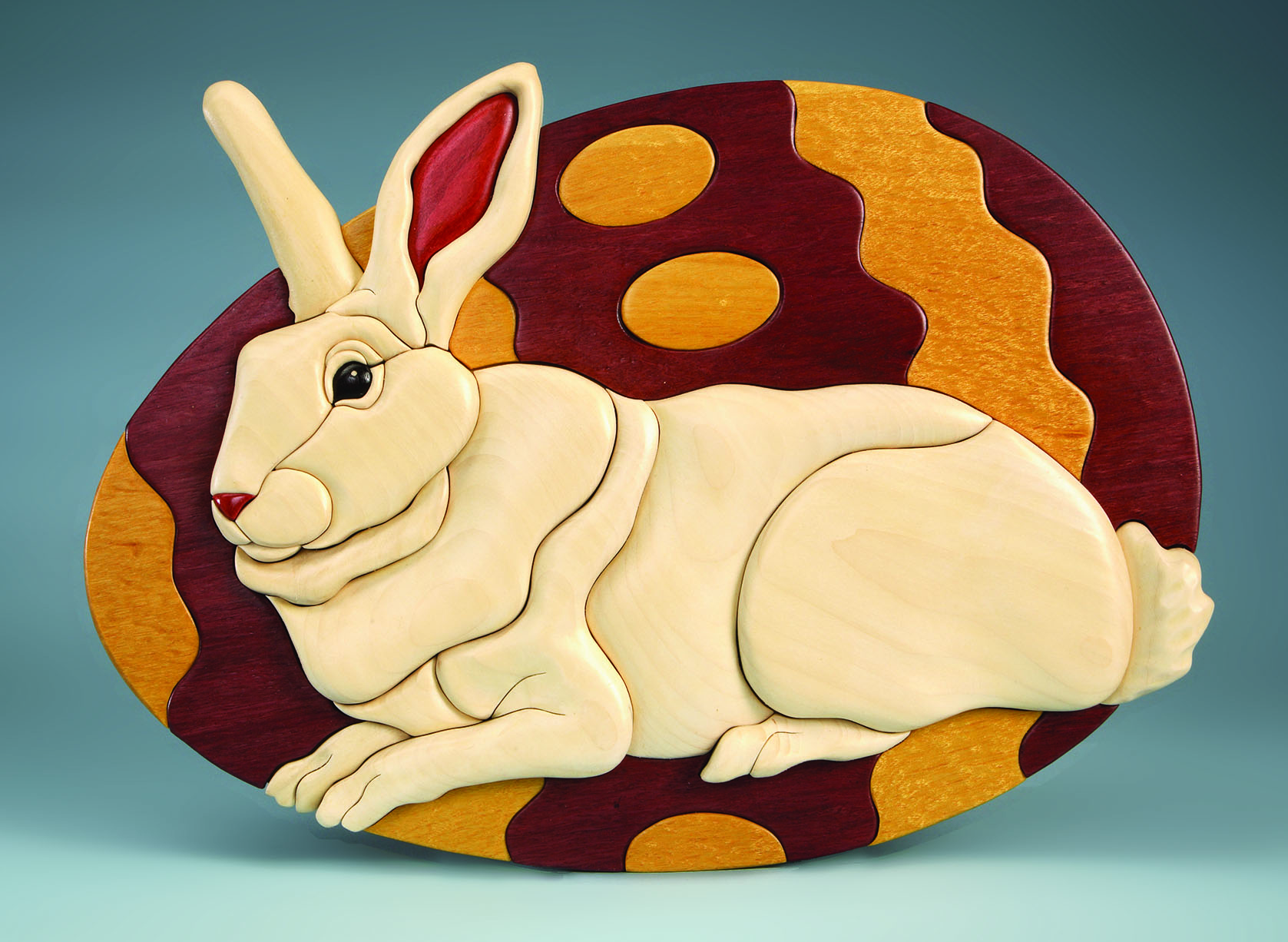 Easter bunny intarsia scroll saw woodworking crafts