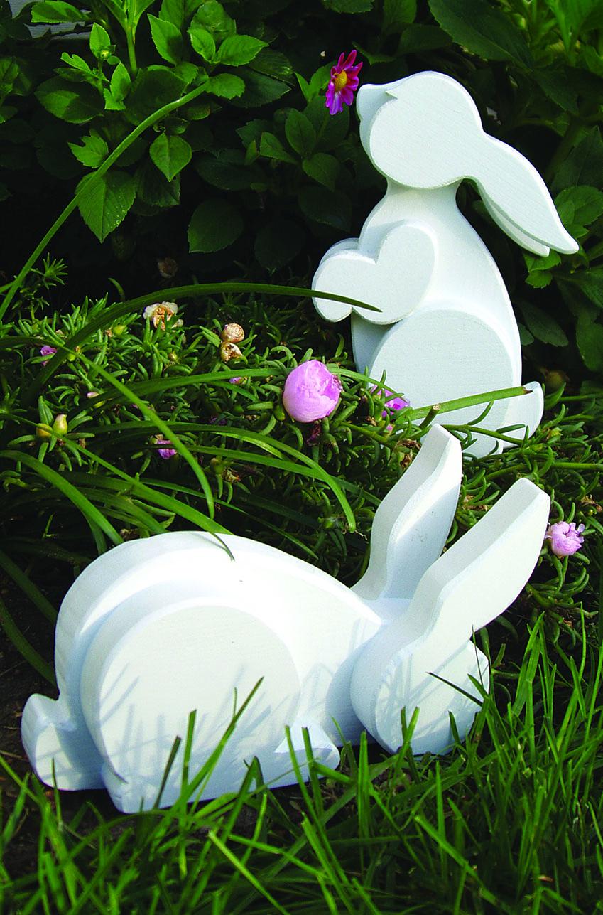 Layered Garden Bunnies Scroll