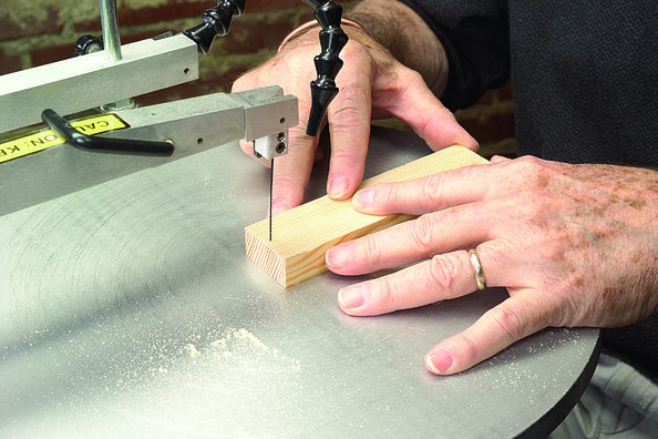 Scroll saw basics scroll saw woodworking crafts if it doesnt slide into the kerf adjust the table and perform the test again until the blade slips in easily greentooth Choice Image